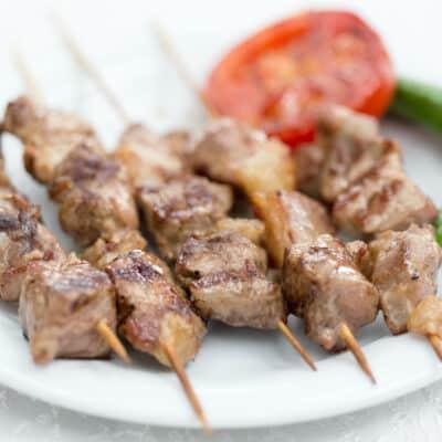 Lamb Shish Kabob Plate