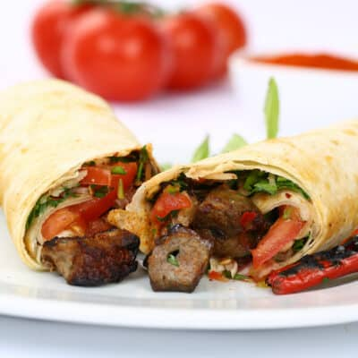 shish kebab sandwich